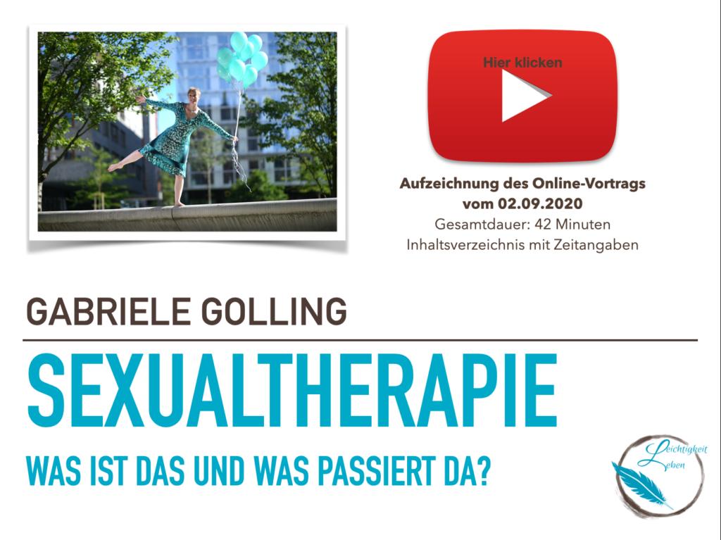 Vortrag Sexualtherapie bei YouTube